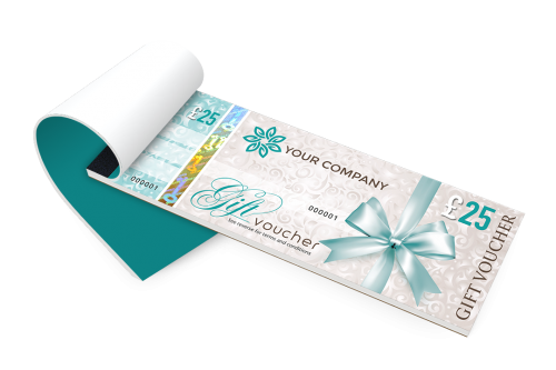 gift voucher printing secure personalised gift vouchers